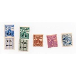 Tunisie- Lot de 5 timbres TAXE neufs