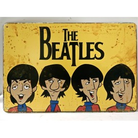 the beatles affiche en metal