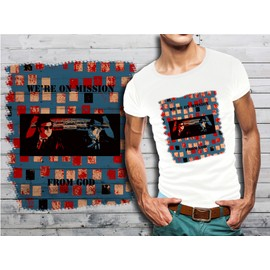 T-Shirt Blanc Homme Collection Films Cultes 09 Blues Brothers