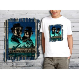 T-Shirt Blanc Enfant Collection Films Cultes 10 Blues Brothers