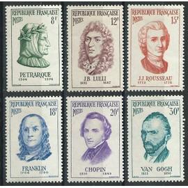 Personnages étrangers 1956 avec trace de charnière* n° 1082, 1083, 1084, 1085, 1086, 1087
