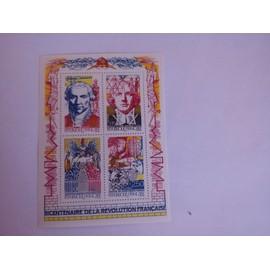 Bloc bicentenaire de la révolution  Y&T Année 1990 N° BF12 Timbres N° 2667 - 2668 - 2669 - 2670