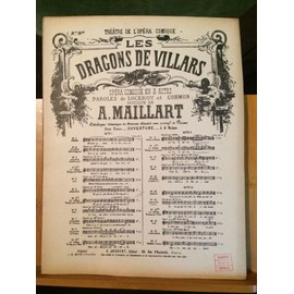 A. Maillart Dragons Villars partition chant piano numéro séparé n°5bis Joubert