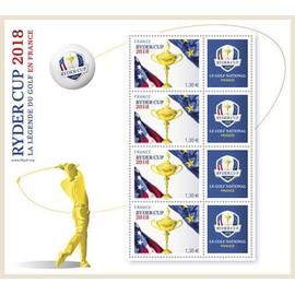 FRANCE 2018 Feuillet RYDER CUP La légende du Golf