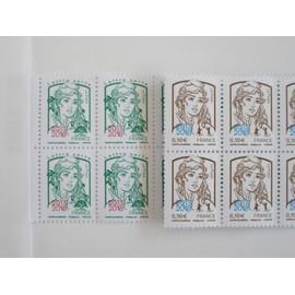 "PHILEX 2018 PARIS. 2 blocs de 4 timbres surchargés ""Marianne De Ciappa"" 2013 - 2018"