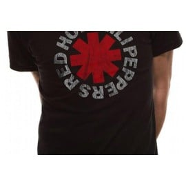 RED HOT CHILI PEPPERS - T-Shirt IN A TUBE- Distressed Asterisk (XXL)
