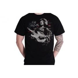 MUSIC - T-Shirt Jimi Hendrix Flag (L)