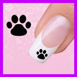 12 stickers ongles pattes de chat manucure autocollants nail art bijoux. Black Bedroom Furniture Sets. Home Design Ideas