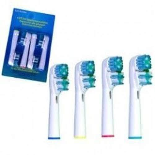 12 t tes brossette brossettes dual compatibles pour brosse dents lectrique braun oral b oralb. Black Bedroom Furniture Sets. Home Design Ideas
