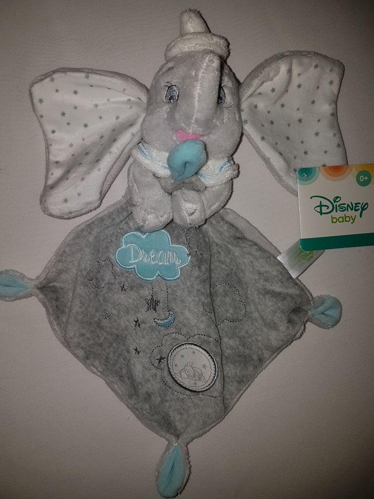 1911fd1f553 DOUDOU ELEPHANT DUMBO GRIS MOUCHOIR DISNEY BABY BIG DREAM NUAGES LUNE  ETOILES PELUCHE BABY BLANKIE SIMBA