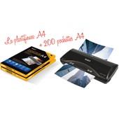 Plastifieuse Pro A4 A5 A6 A7 Avec 200 Feuilles 75 Microns Par