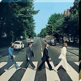 The Beatles imprimée Abbey Road 40 x 40 x 2.5 cm