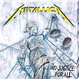 Metallica imprimée Justice For All 40 x 40 x 2.5 cm
