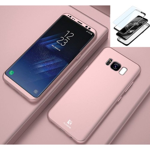 Samsung Galaxy S8 Coque - Antichoc Coque Samsung Galaxy S8 Full Protection Intégrale 360° Housse Etui Rose