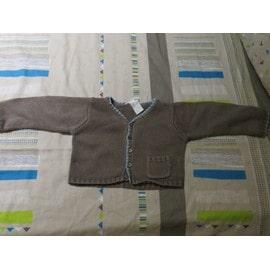 a9501421a5b0d Veste Bébé Mixe De La Marque Bonpoint En Taille 18 Mois De Couleur Marron Et  Bleu
