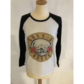 T-shirt Guns n Roses noir et blanc S