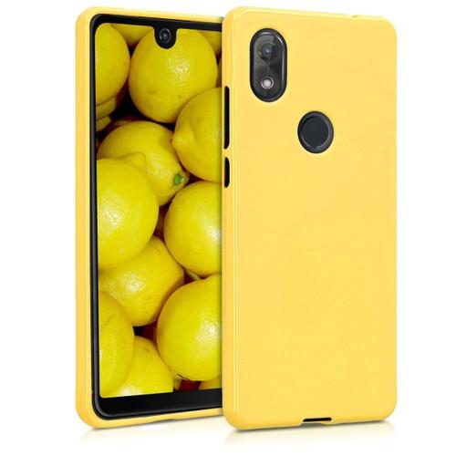 kwmobile Coque Wiko View 2 - Coque pour Wiko View 2 - Housse de téléphone en silicone jaune mat