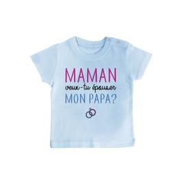T-Shirt Bébé Maman Veux Tu Épouser Mon Papa  e1ef68fb224