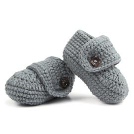 1 Paire De Chaussures Douces De Berceau Pour Bébé En Tricot