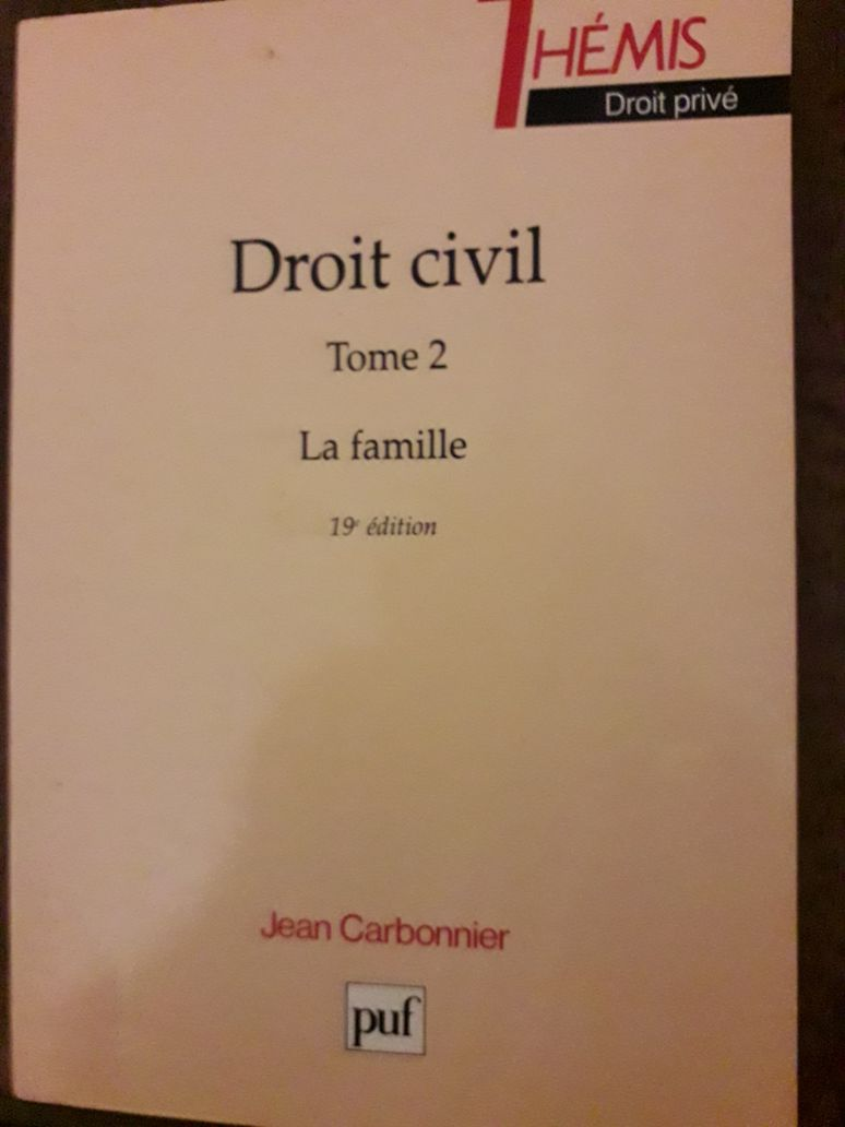Droit civil, tome 2 - La famille