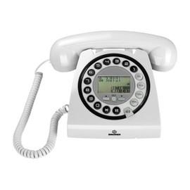 Brondi HALLO Téléphone filaire avec ID dappelant blanc