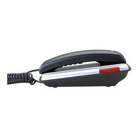 Audioline TEL 105 Téléphone filaire Noir/argent