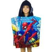 Poncho De Bain Disney Spiderman, Cape Pour Enfant Bleu 892326fe01c