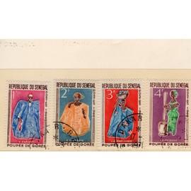 Timbres-poste du Sénégal (Poupées de Gorée)