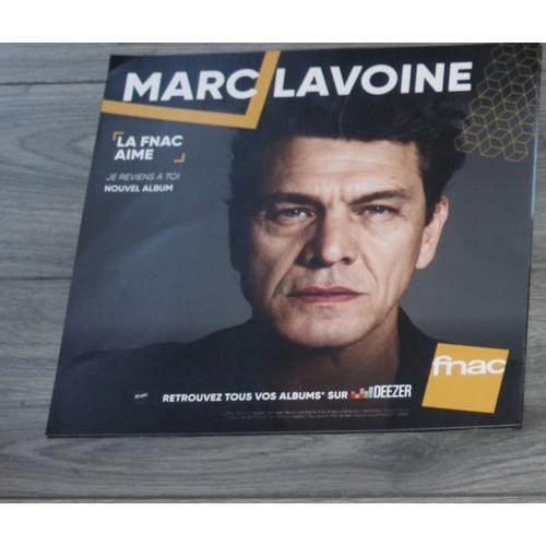 Plv Souple 30x30cm Marc Lavoine Je Reviens A Toi Magasins Fnac Rakuten