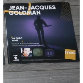 plv souple 30x30cm JEAN JACQUES GOLDMAN singulier pluriel la collection 81-89 /// magasins FNAC