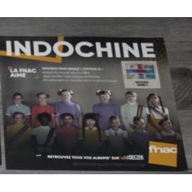 plv souple 30x30cm INDOCHINE station 13 /// magasins FNAC