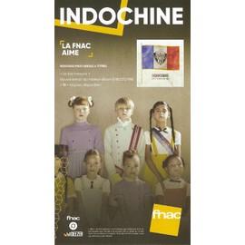 PLV cartonnée rigide 14x25cm INDOCHINE un été français // magasins FNAC