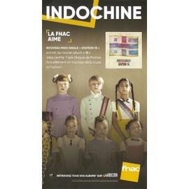 PLV cartonnée rigide 14x25cm INDOCHINE station 13 // magasins FNAC