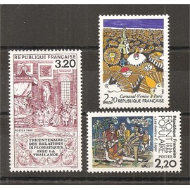 2393 - 2394 - 2395 (1986) France-Thaïlande / Front Populaire / Carnaval N** (cote 3,7e) (6041)