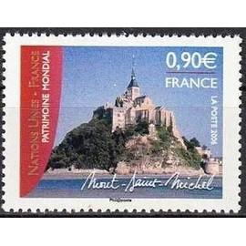 france 2006, très bel exemplaire neuf** luxe yvert 3924, nations unies, patrimoine mondial, le mont saint michel.