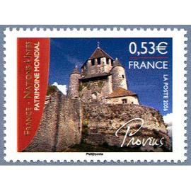 france 2006, très bel exemplaire neuf** luxe yvert 3923, émission commune avec les nations unies, patrimoine mondial, la tour césar à provins.