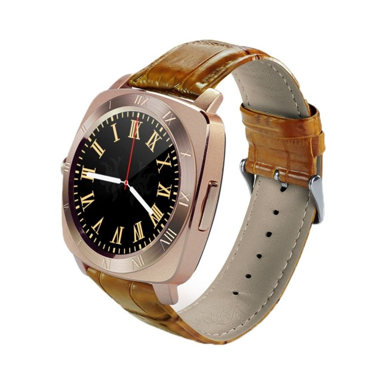 (#117) 1.33 Inch Full Ips Round Touch Screen Bluetooth Smart Watch Phone With Sim Card Slot For Android Smartphones(Rose Gold)