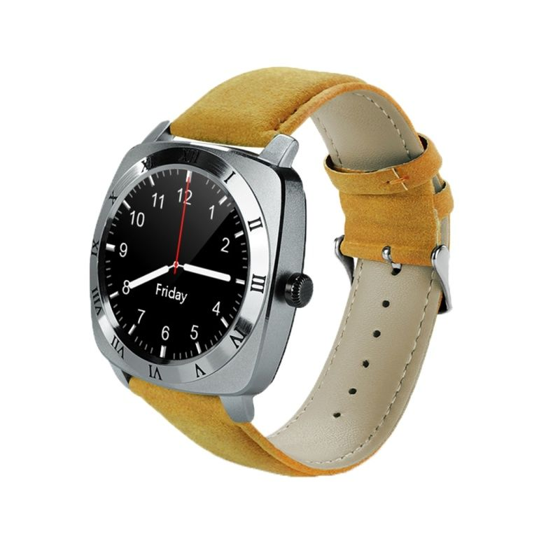 (#117) 1.33 Inch Full Ips Round Touch Screen Bluetooth Smart Watch Phone With Sim Card Slot For Android Smartphones(Silver)