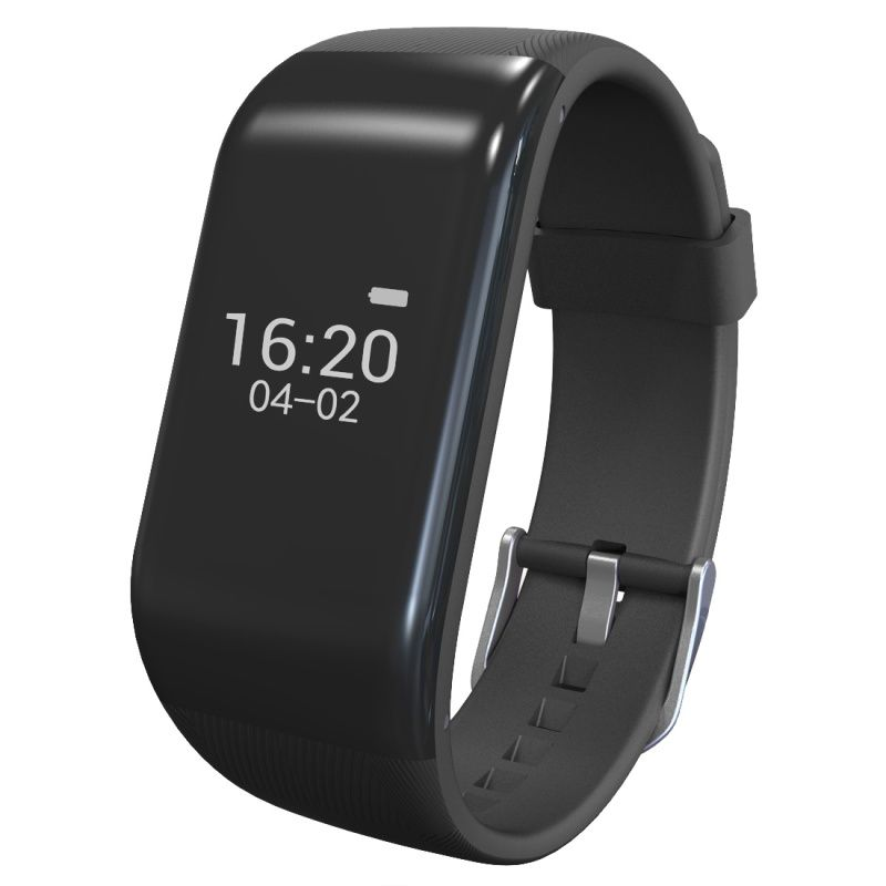 (#117) Bluetooth Smart Bracelet For Ios / Android Smart Phone, Heart Rate / Anti-Lost / Activity Tracker(Black)