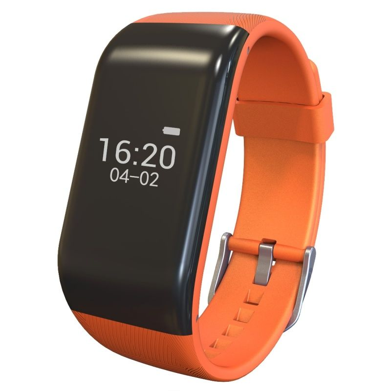 (#117) Bluetooth Smart Bracelet For Ios / Android Smart Phone, Heart Rate / Anti-Lost / Activity Tracker(Orange)