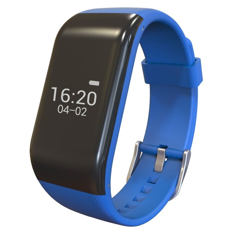 (#117) Bluetooth Smart Bracelet For Ios / Android Smart Phone, Heart Rate / Anti-Lost / Activity Tracker (Blue)