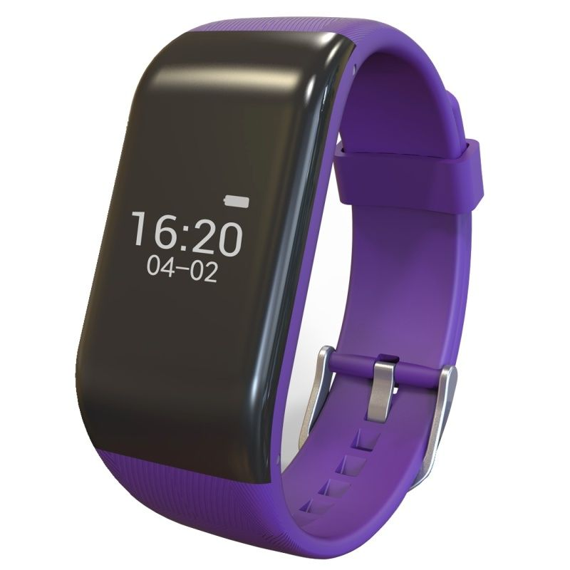 (#117) Bluetooth Smart Bracelet For Ios / Android Smart Phone, Heart Rate / Anti-Lost / Activity Tracker(Purple)