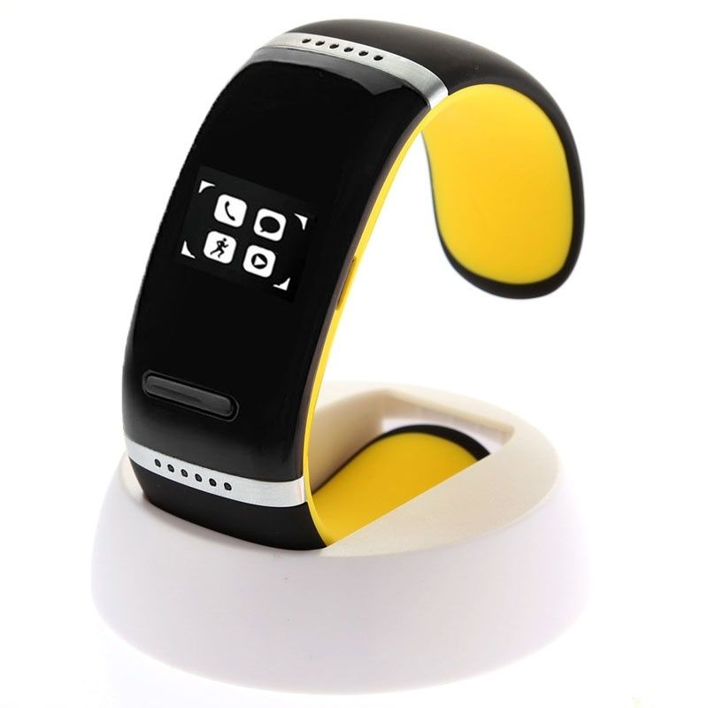 (#117) Oled Bluetooth Wrist V3.0 Smart Touch Bracelet Watch For Ios Iphone / Android Samsung / Htc(Yellow)