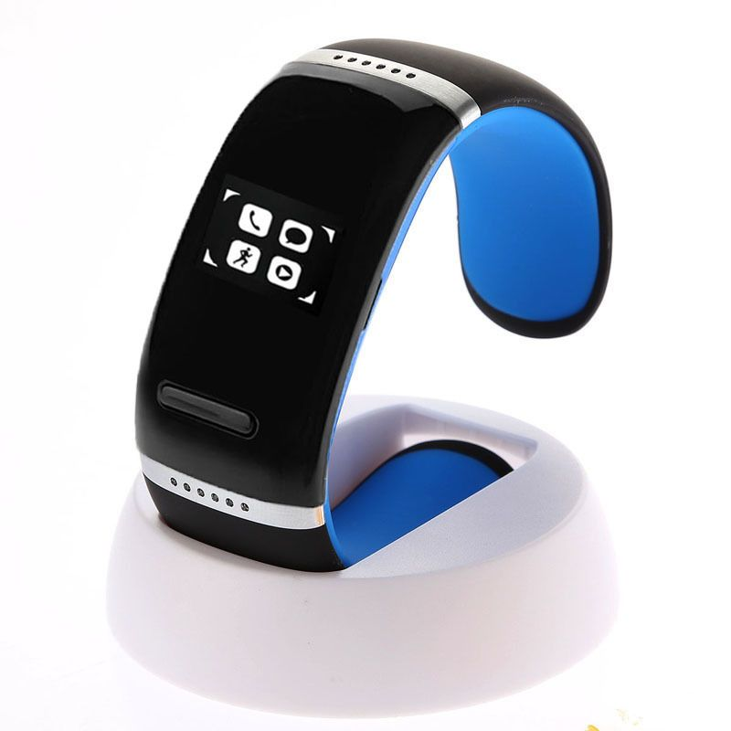(#117) Oled Bluetooth Wrist V3.0 Smart Touch Bracelet Watch For Ios Iphone / Android Samsung / Htc(Blue)