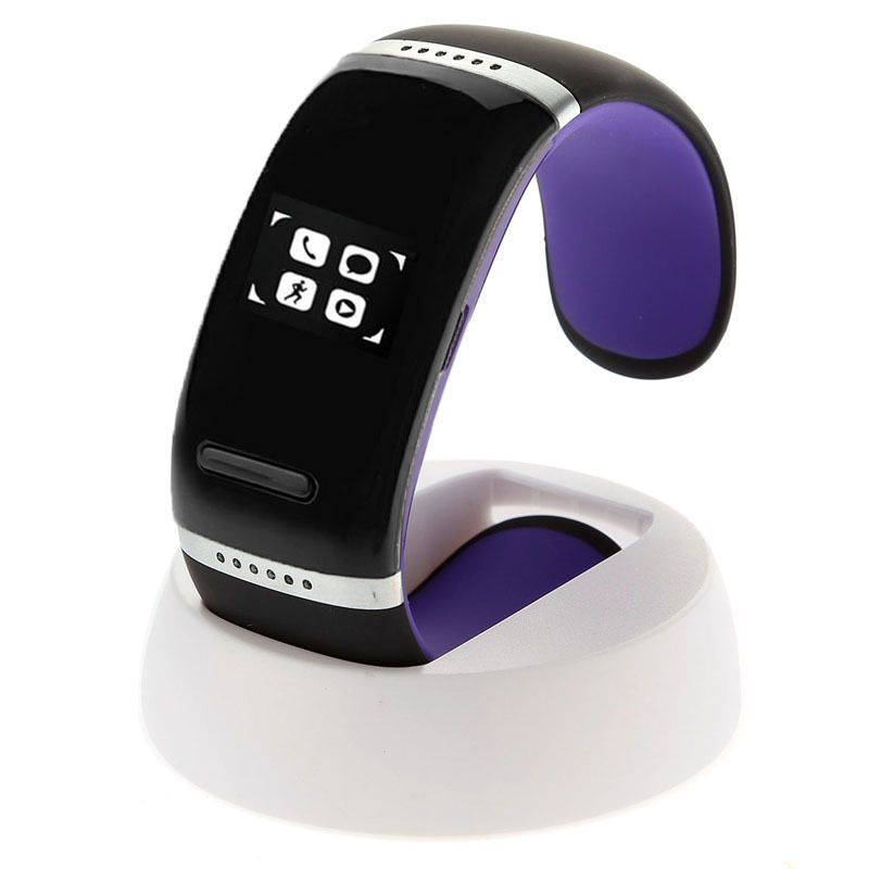 (#117) Oled Bluetooth Wrist V3.0 Smart Touch Bracelet Watch For Ios Iphone / Android Samsung / Htc(Purple)