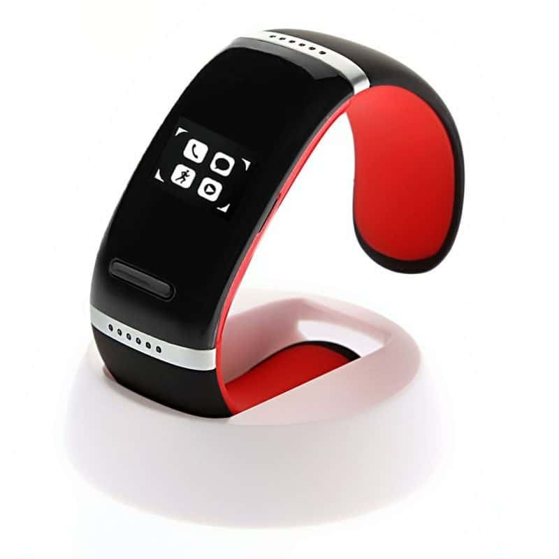 (#117) Oled Bluetooth Wrist V3.0 Smart Touch Bracelet Watch For Ios Iphone / Android Samsung / Htc(Red)