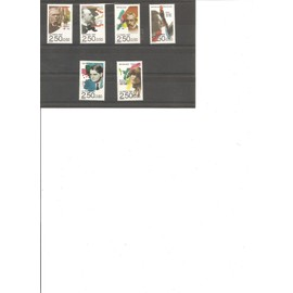 6 TIMBRES NEUFS CELEBRITES MUSICIENS 1192 YT 2747 A 2752