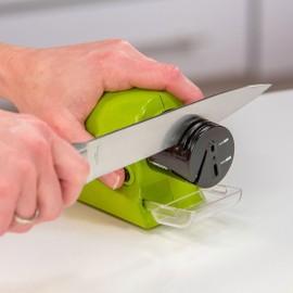 Aiguiseur Couteaux Sans Fil Bac Collecteur Haute Qualité Ciseaux Tournevis Vert