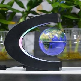 Globe Terrestre Lévitant Futuriste Led Multicolores Gadget High Tech 360 Degrés