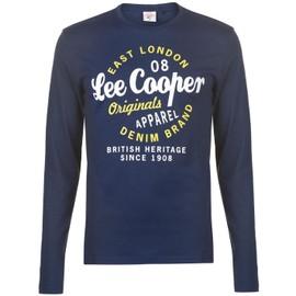 Lee Cooper Vintage T-Shirt Top Manche Longue Hommes